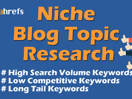 Research 10 niche blog topic ideas with high volume keywords