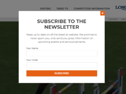 Create newsletter popup for your website