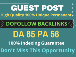 Do guest post on 2.50M real traffic blog with dofollow link