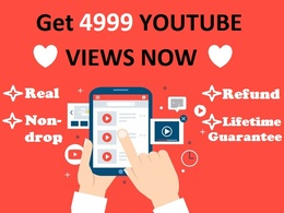 Youtube Promotion by 3000 Real &Active Views(Lifetime Guarantee)