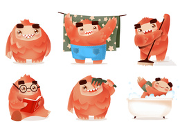 Create for you cartoon character in vector