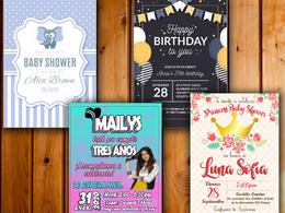 Design wedding invitation card birthday party, baby shower