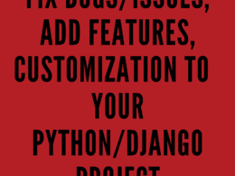 Fix bugs, customize, add features to your Python/Django project