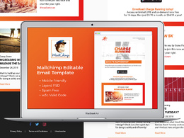 Design and code email newsletter, emailer or email template