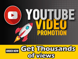 Do organic youtube video promotion for get more views