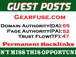 Dofollow guest post on Gearfuse || Gearfuse.com DA65