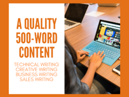 Write a quality 500-word content