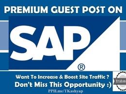 Tech Guest post on SAP.com - SAP - DA 90 DoFollow Link