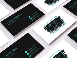 Design double sided business card + editable source files