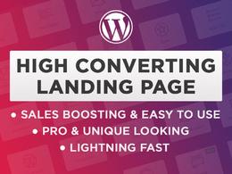 Design a Wordpress Landing page, that converts