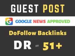 Guest post on DR 51 google news crypto and tech site