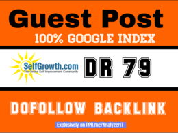 Publish Dofollow Guest Post on selfgrowth DR79 100% Google Index