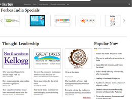 Do Full Feature / Interview on Forbes India - Forbesindia.com