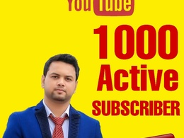 Give You 1000 Real and Active YouTube Subscriber