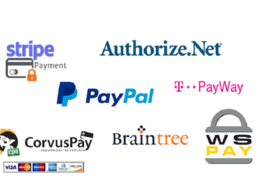 Integrate any of Paypal, Stripe, Authorize.Net payment gateway