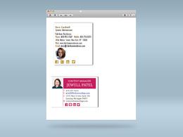 HTML clickable email  signature design