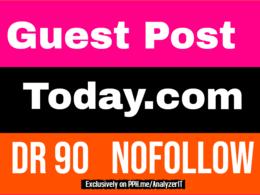 Publish Guest Post on Today. com - DA93 TF76 - nofollow Backlink