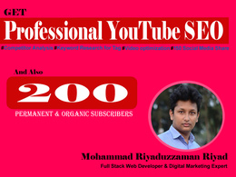 Do Professional YouTube SEO and 200 Permanent Subscribers