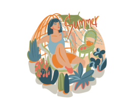 Create personalized digital card or illustration