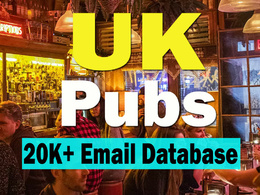 I have available 20000+  emails data of uk pubs