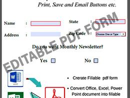 Interactive PDF, Scanned PDF, Convert PDF, (1-2 pages )