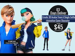 Create 3D Avatar selfie character models Game AR VR  Unity 3D