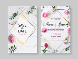Design a wedding card or invitation card for any event