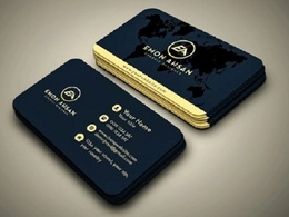 Unique double sided business card