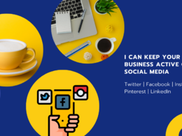 Keep your business active on social media for one month
