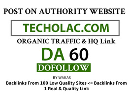 Guest Post on Techolac - Techolac.com DA 60 Dofollow Link