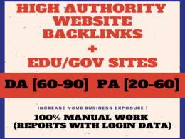 Get 55+ High DA [60-98] Profile Backlinks for Google Rank