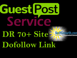 Publish guest post on DR 70+ site with Dofollow link