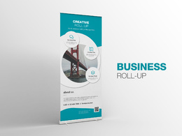 Design a pull up / roll up banner