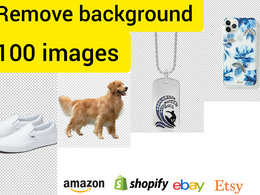 Photoshop editing background removal of 100 images 12 hours