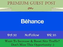 Publish a Guest Post on Behance, a DA 92 Design Blog