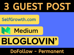 Write And Publish 3 Guest post on Apsense,Selfgrowth,BlogLovin