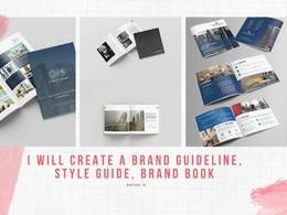 I will create a brand guideline, style guide, brand book