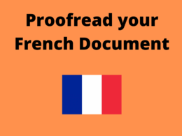 Proofread your French document (300 words)