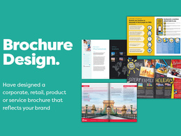 Design & produce a luxury 4 page professional brochure