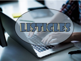 Write a listicle for your website