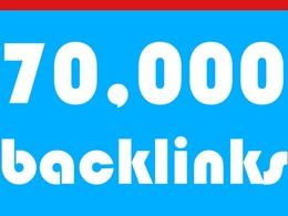 70k profile backlinks for URL & Keywordd