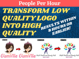 Convert Low Quality Logo Into High Quality