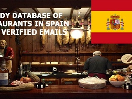 Provide database of 15000 restaurants in Spain with e-mails.