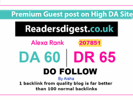 Publish a Guest Post on readersdigest - readersdigest co uk DA60