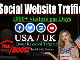 Drive real safe social media web traffic for 30 days