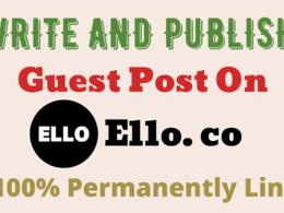 Publish Guest Post On High DA79 Ello.co
