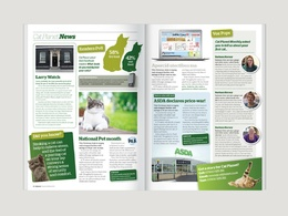 Design a beautiful and professional 12 page A5 magazine