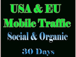Provide mobile traffic to your website or blog