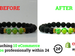 Professional eCommerce photos editing (10 photos within 24hrs)