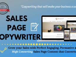 Write persuasive sales page  (Upto 300 Words)